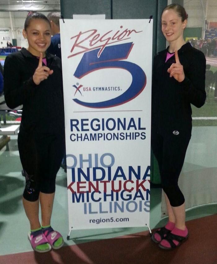 Reg 5 Championships Niles, OH 4-18-2015 Makarri and Jenna