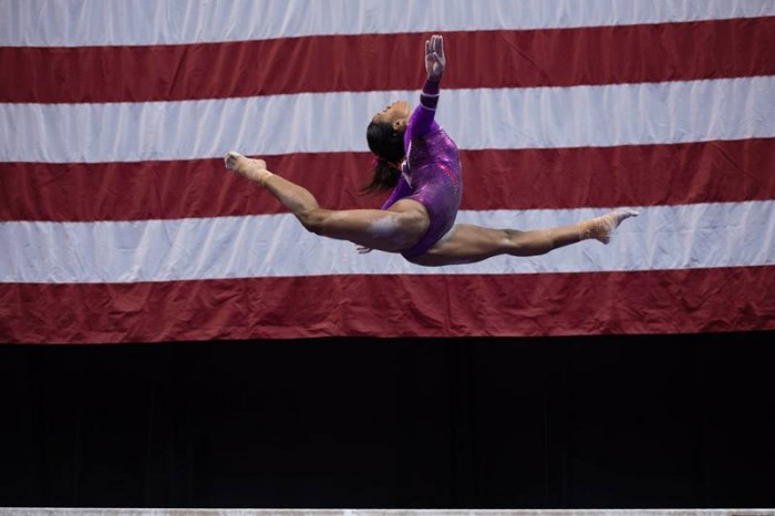 P&G Champs 2015 2nd day Gabby beam flag